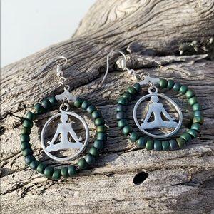 Handmade yoga earrings